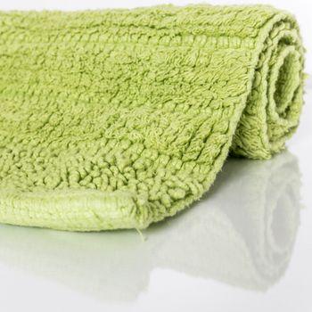 Badmat badtapijt badkamertapijt van katoen eenkleurig in groen – Bild 2