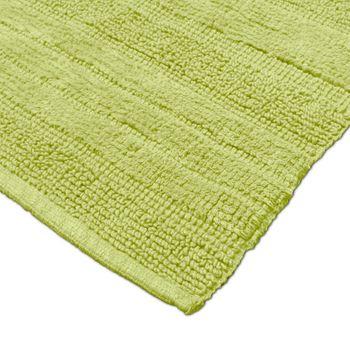 Badematte Badteppich Badezimmerteppich aus Baumwolle Einfarbig in Grün – Bild 3