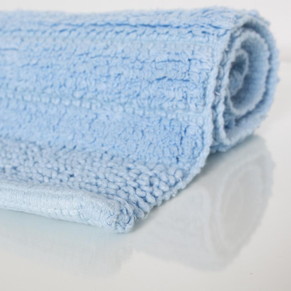 Badezimmerteppich Aus Baumwolle Einfarbig In Hell Blau Alle Teppiche