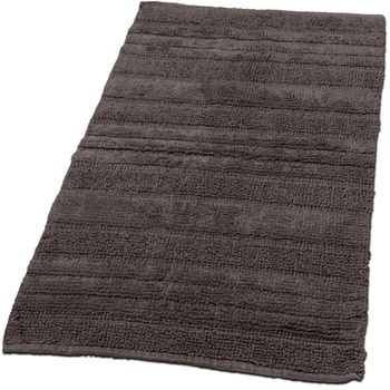 Badezimmerteppich aus Baumwolle Einfarbig in Braun Taupe