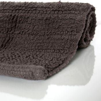 Badematte Badteppich Badezimmerteppich aus Baumwolle Einfarbig in Braun Taupe – Bild 2