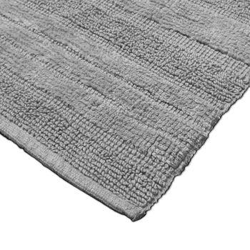 Badmat badtapijt badkamertapijt van katoen eenkleurig in grijs zilver – Bild 3