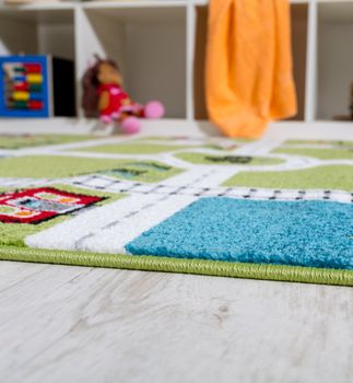 Children's Rug Play Mat City Harbour Street Rug Town Street Grey Green – Bild 3