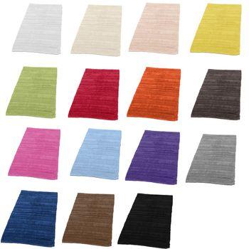 Badezimmerteppich aus Baumwolle Einfarbig versch. Farben u. Größen