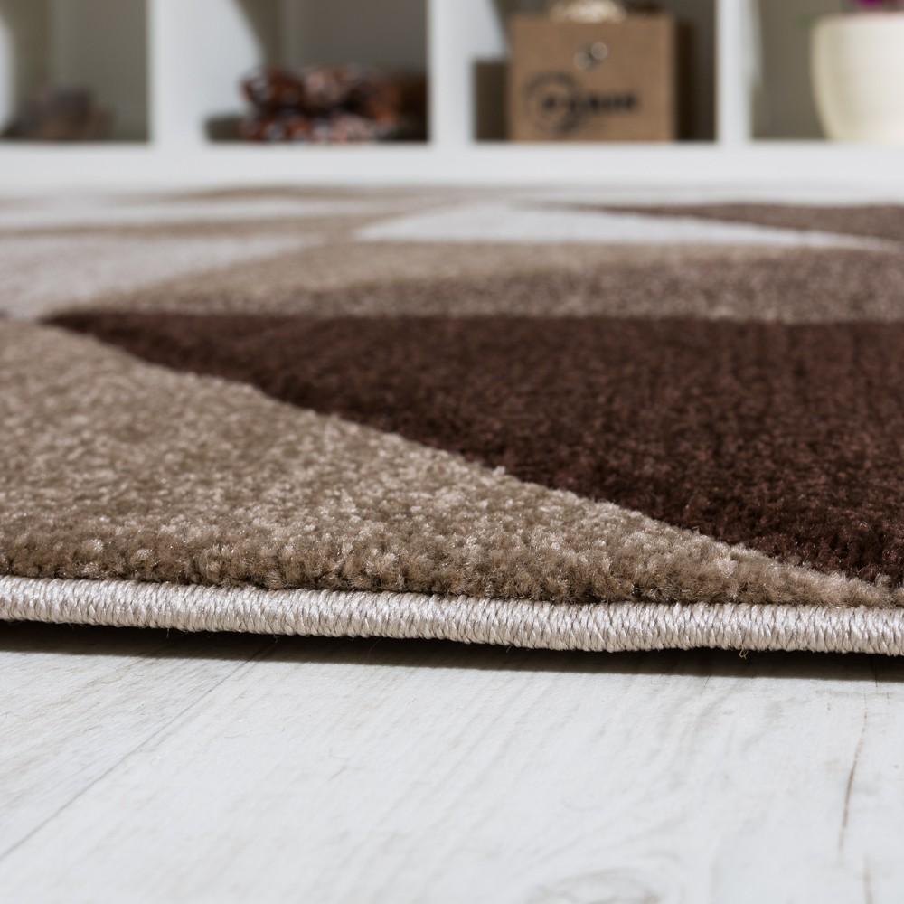 wohnzimmer teppich piramid design modern braun beige ausverkauf restposten. Black Bedroom Furniture Sets. Home Design Ideas