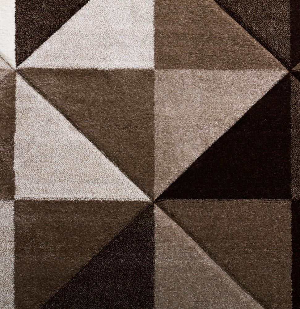 Wohnzimmer Teppich Piramid Design Modern Braun Beige Ausverkauf U2013 Bild 2