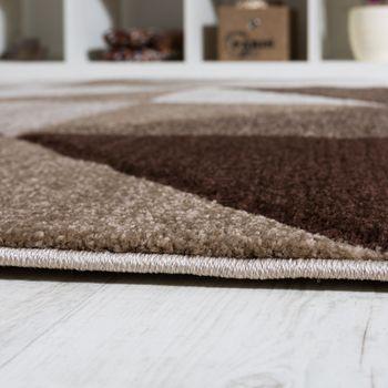 Wohnzimmer Teppich Piramid Design Modern Braun Beige Ausverkauf – Bild 3