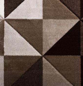 Wohnzimmer Teppich Piramid Design Modern Braun Beige Ausverkauf – Bild 2