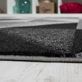 Wohnzimmer Teppich Piramid Design Modern Grau Creme Ausverkauf – Bild 3