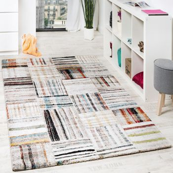 Designer Carpet Loribaft Cream Multicolour