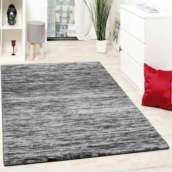 Carpet Modern Living Room With Special Mottled In Grey Black  – Bild 1