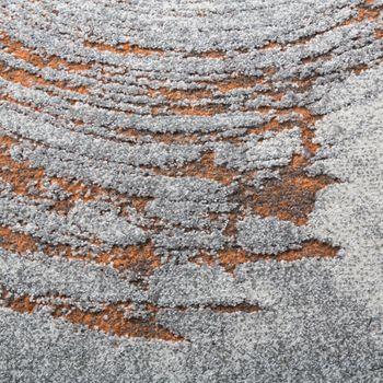 Classic Designer Rug High-Deep Effect Relief Visual Orange Flecked With Grey – Bild 3