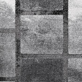 Edler Designer Teppich Hochtief-Effekt Kurzflor Karo Optik Grau Meliert – Bild 3