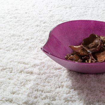 Shaggy Teppich Micro Polyester Wohnzimmer Elegant Strapazierfähig Hochflor Creme – Bild 3