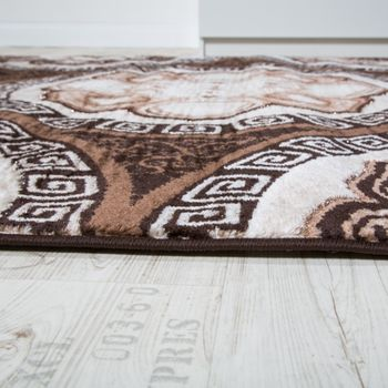 Designer Teppich Klassische Kreis Ornamente Braun AUSVERKAUF – Bild 2
