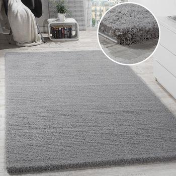 Shaggy Teppich Micro Polyester Grau