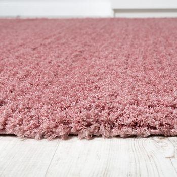 Shaggy Teppich Micro Polyester Wohnzimmer Teppiche Elegant Hochflor Pink – Bild 2