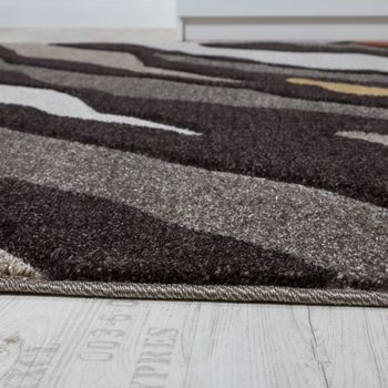Designer Carpet Living Room Carpets Engraved Effect Areas Brown Beige Cream – Bild 2