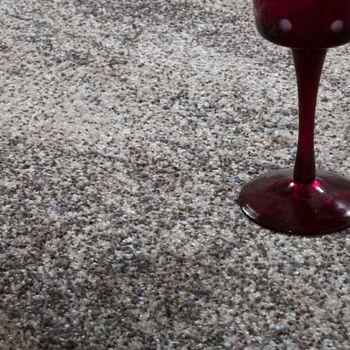 Edler Designer Teppich Hochtief-Effekt Kurzflor Relief Optik Beige Grau Meliert – Bild 3