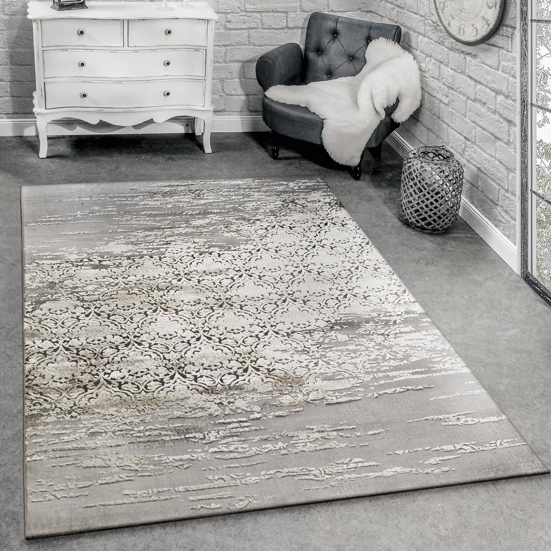 Designer Teppich Meliert Grau Beige Design Teppiche