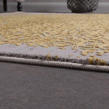Designer Teppich Modern Wohnzimmerteppich Mit Muster Ornamente Grau Honig-Gelb – Bild 2
