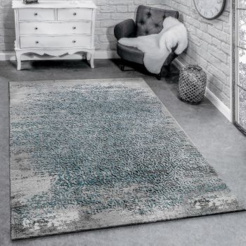 Decorative designer rug grey and blue