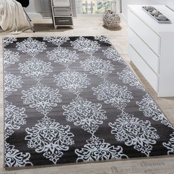 Rug Living Room Classic Floral Pattern Ornamental Abstract Mottled Grey  – Bild 1