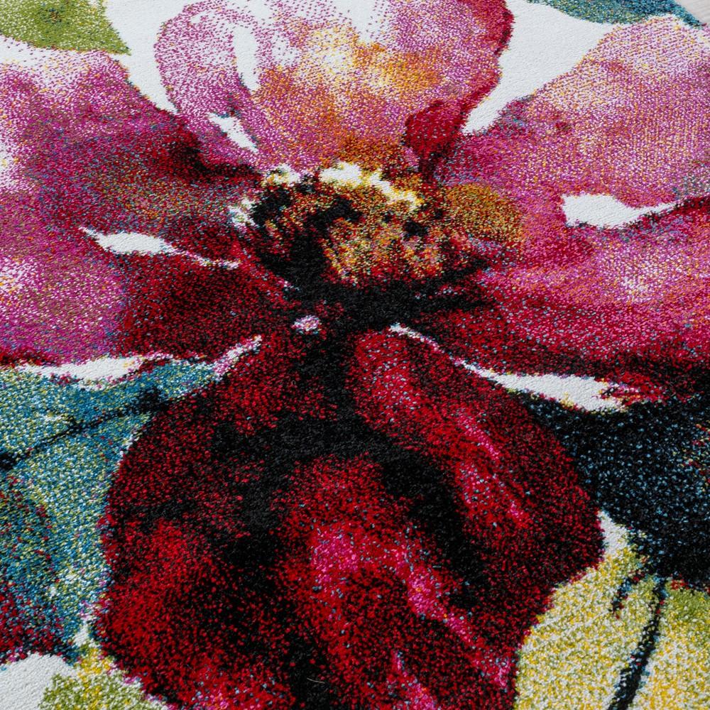 tapis canvas motif fleurs tapis24. Black Bedroom Furniture Sets. Home Design Ideas