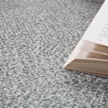 Designer Teppich Modern mit Konturenschnitt Wellen Muster Abstrakt Grau Creme – Bild 3