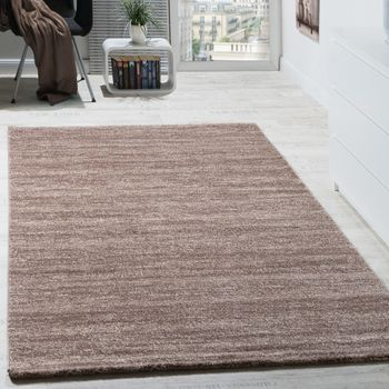 Rug Modern Living Room Short-pile Cosy Mottled Good Value In Beige – Bild 1
