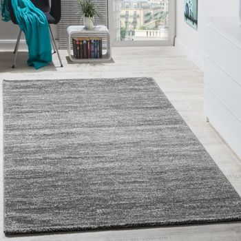 Rug Modern Living Room Short-pile Cosy Good Value Mottled In Grey Cream – Bild 1