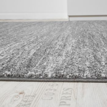 Rug Modern Living Room Short-pile Cosy Good Value Mottled In Grey Cream – Bild 2