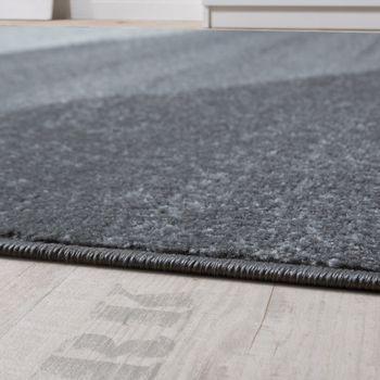 Designer Teppich Modern Geschwungene Wellen Linien Muster Kurzflor Meliert Grün – Bild 2