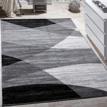 Designer Rug Curved Waves Grey