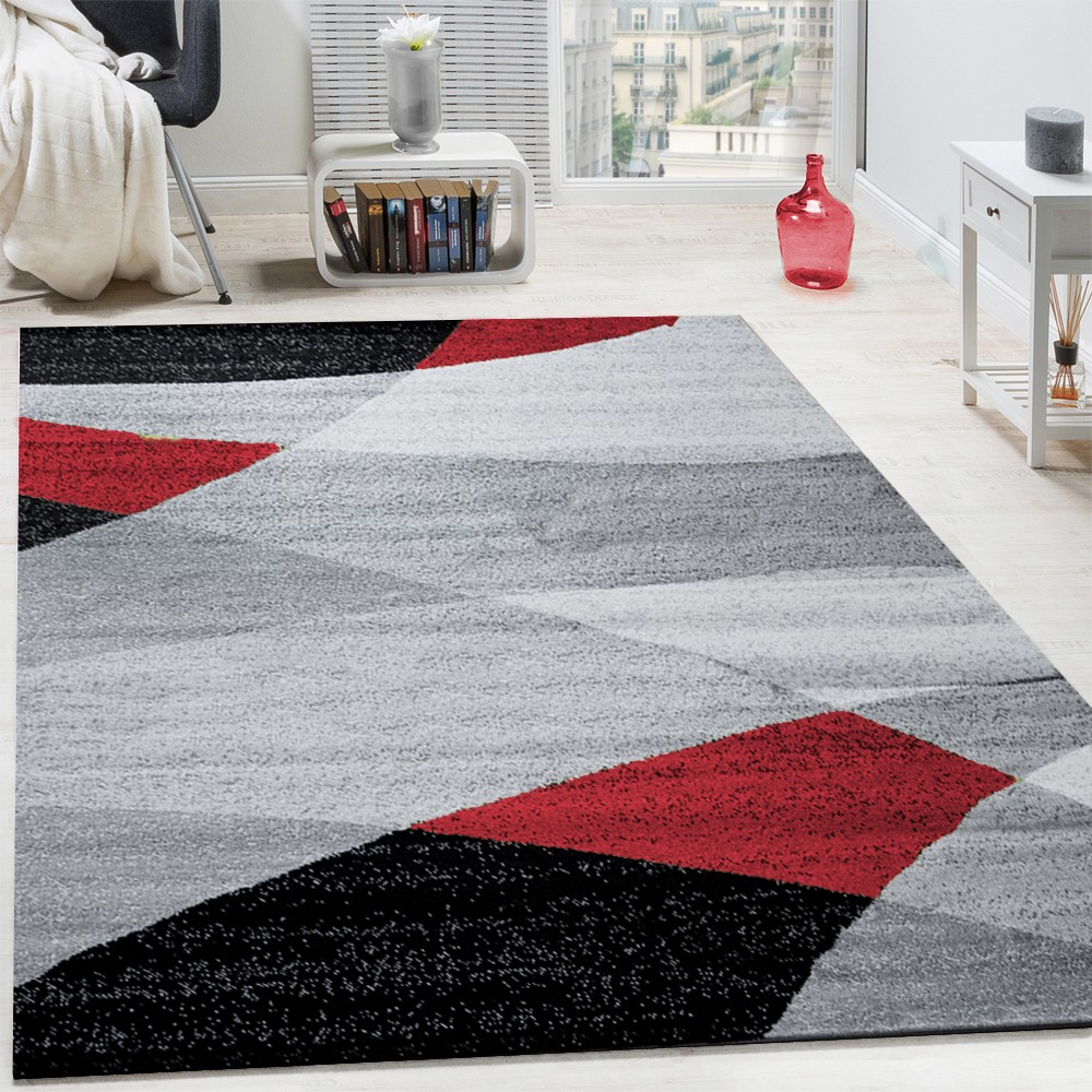 tapis design moderne courbes douces lignes motif poils ras chin rouge tapis tapis poil ras. Black Bedroom Furniture Sets. Home Design Ideas