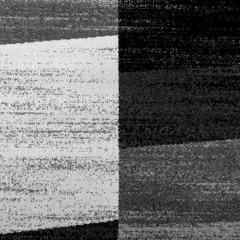 Designer Teppich Modern Abstrakt Optik Kariert Kurzflor Meliert In Grau – Bild 3