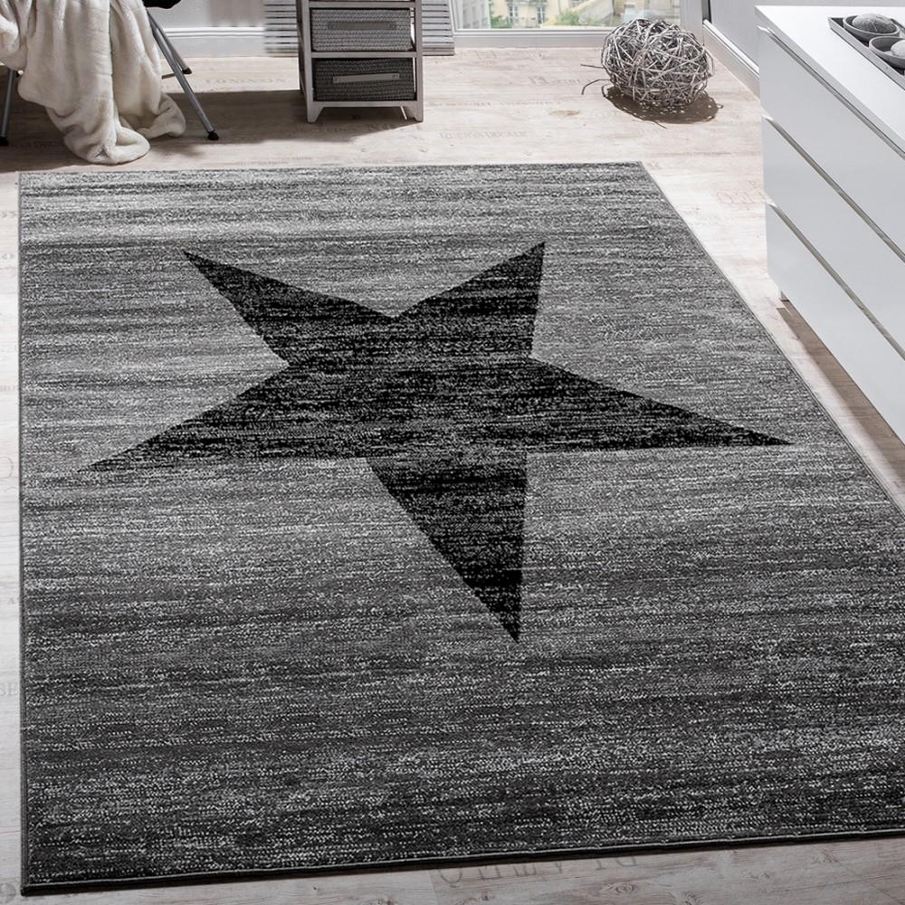 designer rug star pattern grey rug24
