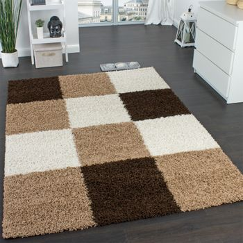Shaggy Rug High-pile Long Pile Patterned Chequered In Various Colours – Bild 11