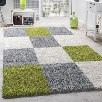 Shaggy Rug High-pile Long Pile Patterned Chequered In Various Colours – Bild 5