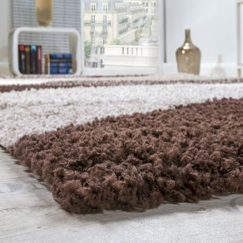 Shaggy Rug High Pile Long Pile Soft Geometrically Patterned In Different Colours – Bild 4
