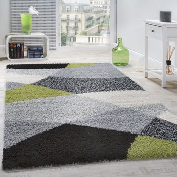 Shaggy Rug High Pile Long Pile Soft Geometrically Patterned In Different Colours – Bild 10