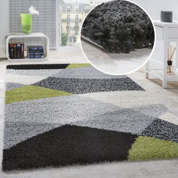 Shaggy Rug High Pile Long Pile Soft Geometrically Patterned In Different Colours – Bild 11