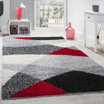 Shaggy Rug High Pile Long Pile Soft Geometrically Patterned In Different Colours – Bild 14