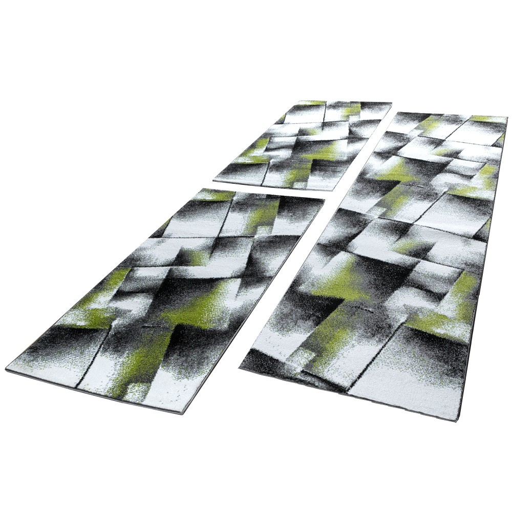 tapis de cr ateur pour salle de s jour motif carreaux en gris cr me noir tapis cadres de lit. Black Bedroom Furniture Sets. Home Design Ideas