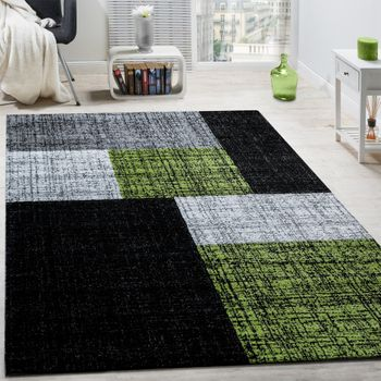 Rug Checks And Rectangles Green