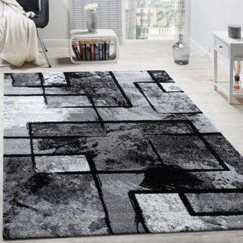 Teppich Gemälde Optik Grau