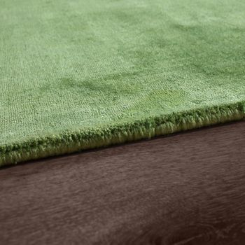 High-Quality Handmade Rug, 100% Viscose, Vintage, Striking, Mottled Green – Bild 2