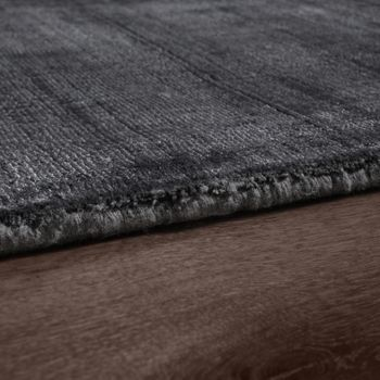 High-Quality Handmade Rug, 100% Viscose, Vintage, Optical Mottling, Anthracite – Bild 2