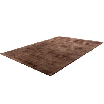 Rug, Handmade, High-Quality 100% Viscose Vintage Look Mottled In Brown – Bild 3