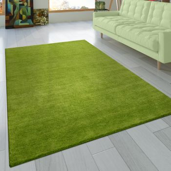 Rug Hand-knotted Gabbeh Anthracite Green